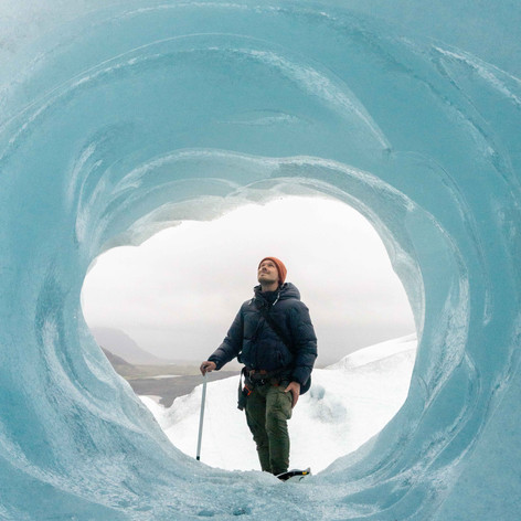 Ice Cave tunnel in Summer