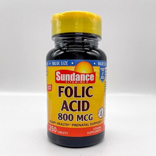 Sundance Folic Acid 800 MCG
