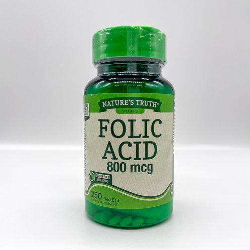 Nature's Truth Folic Acid 800MCG