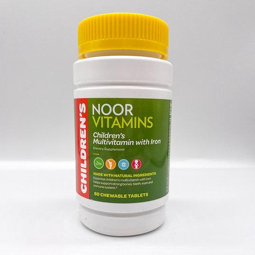 NOOR Vitamins Children's Multivitamin with Iron