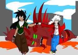 Domon and Zero_Monster_Blood_SemiCensore