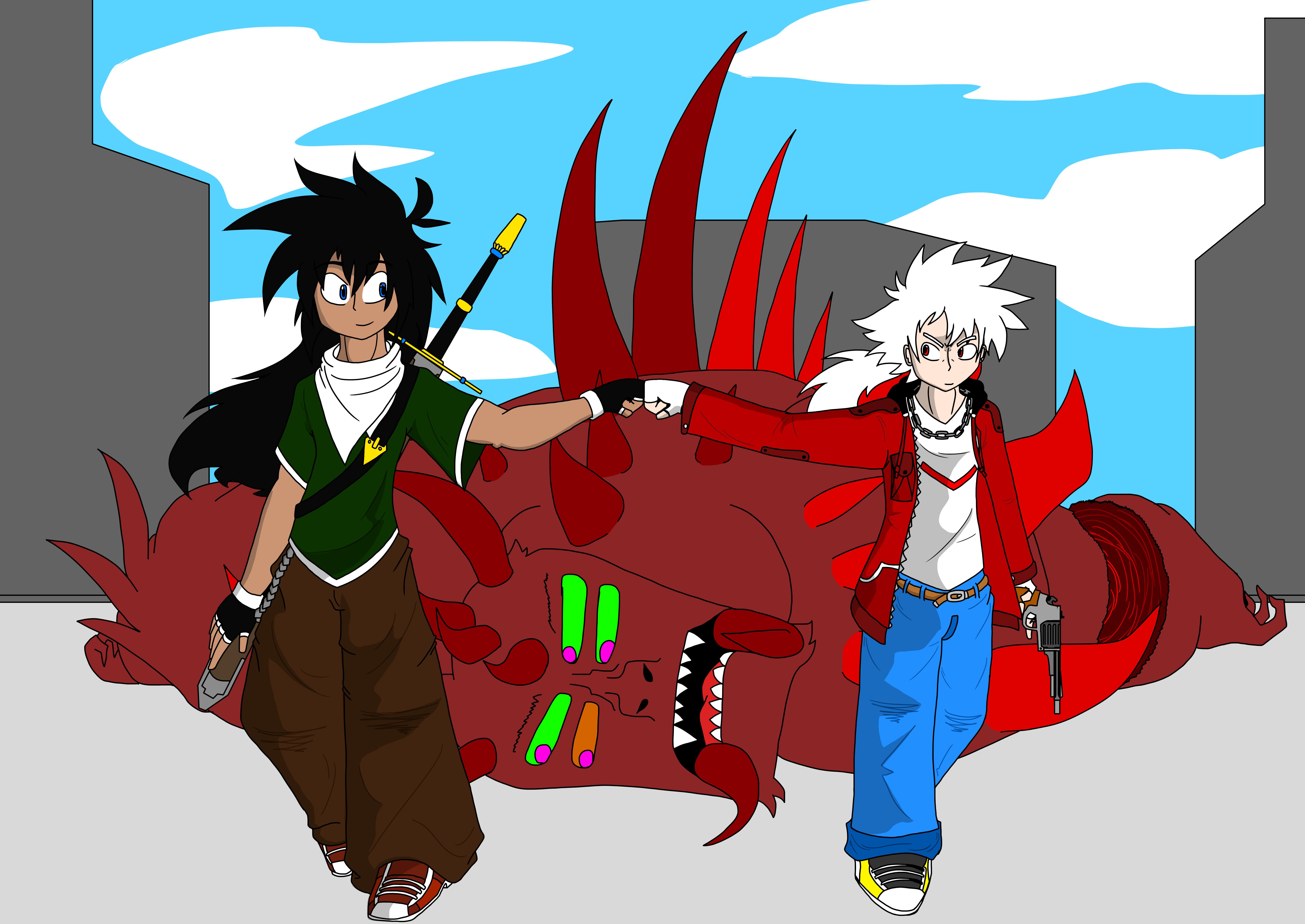 Domon and Zero_Monster