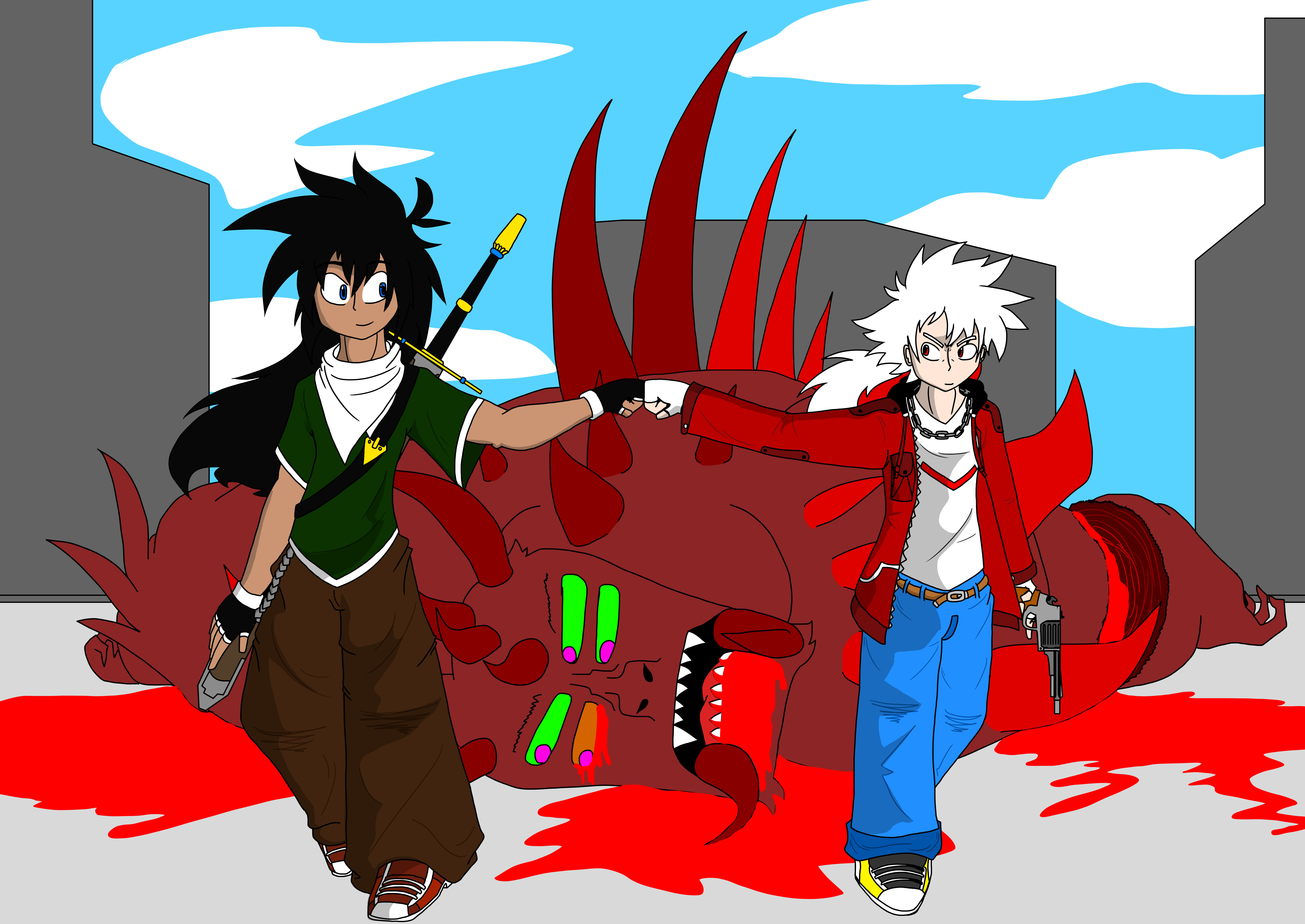 Domon and Zero_Monster_Blood