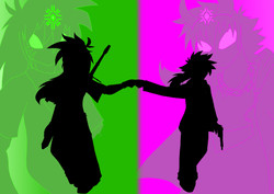 Domon and Zero_Super_Shadow
