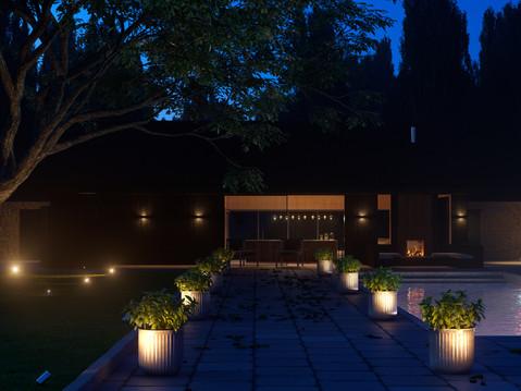 Pool House Blue Hour