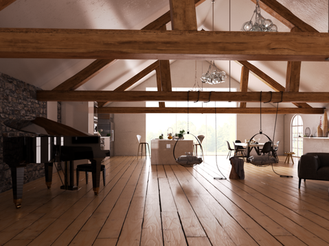 Barn Conversion - Living Room