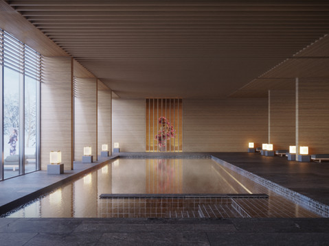 Aman resort and spa in Hokkaido daylight