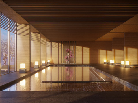 Aman resort and spa in Hokkaido morning