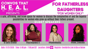 "CONVOS THAT H.E.A.L.: ""FOR FATHERLESS DAUGHTERS"" *For Women Only*"