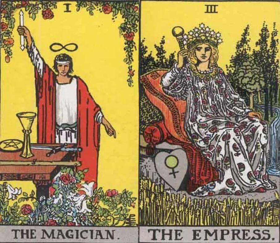 The Magician and Empress tarot combination