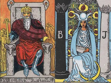 The Emperor and High Priestess Tarot Combination in Love, Work and Health
