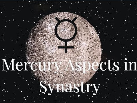 Mercury Aspects in Synastry: To Sun, Moon, Venus and Mars