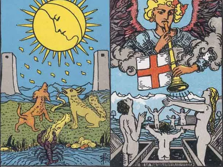 Tarot Cards Combinations: The Moon and Judgement