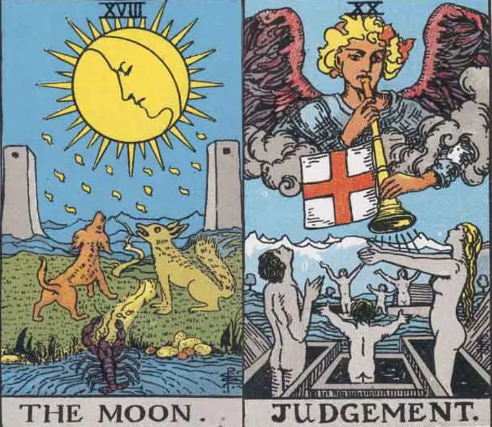 moon and judgement tarot combination