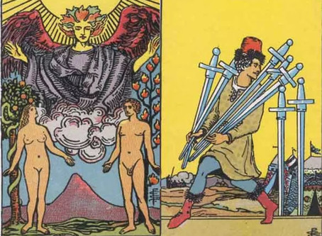 Tarot Cards Combinations: The Lovers and Seven of Swords