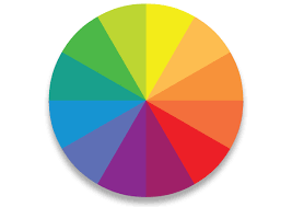 Made up of 12 hues The Colour Wheel can be divided into cool & warm colours