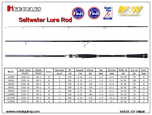 HERCULES Saltwater Lure Rod M&W