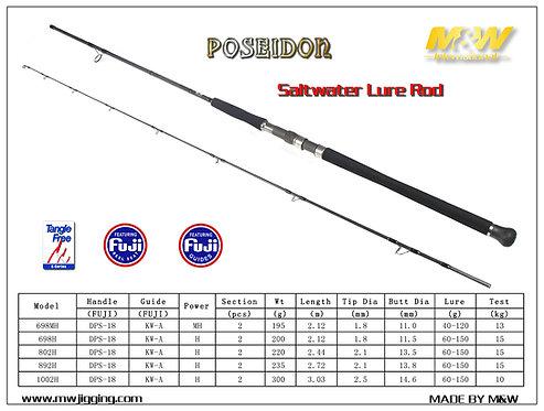 POSEIDON Saltwater Lure Rod M&W