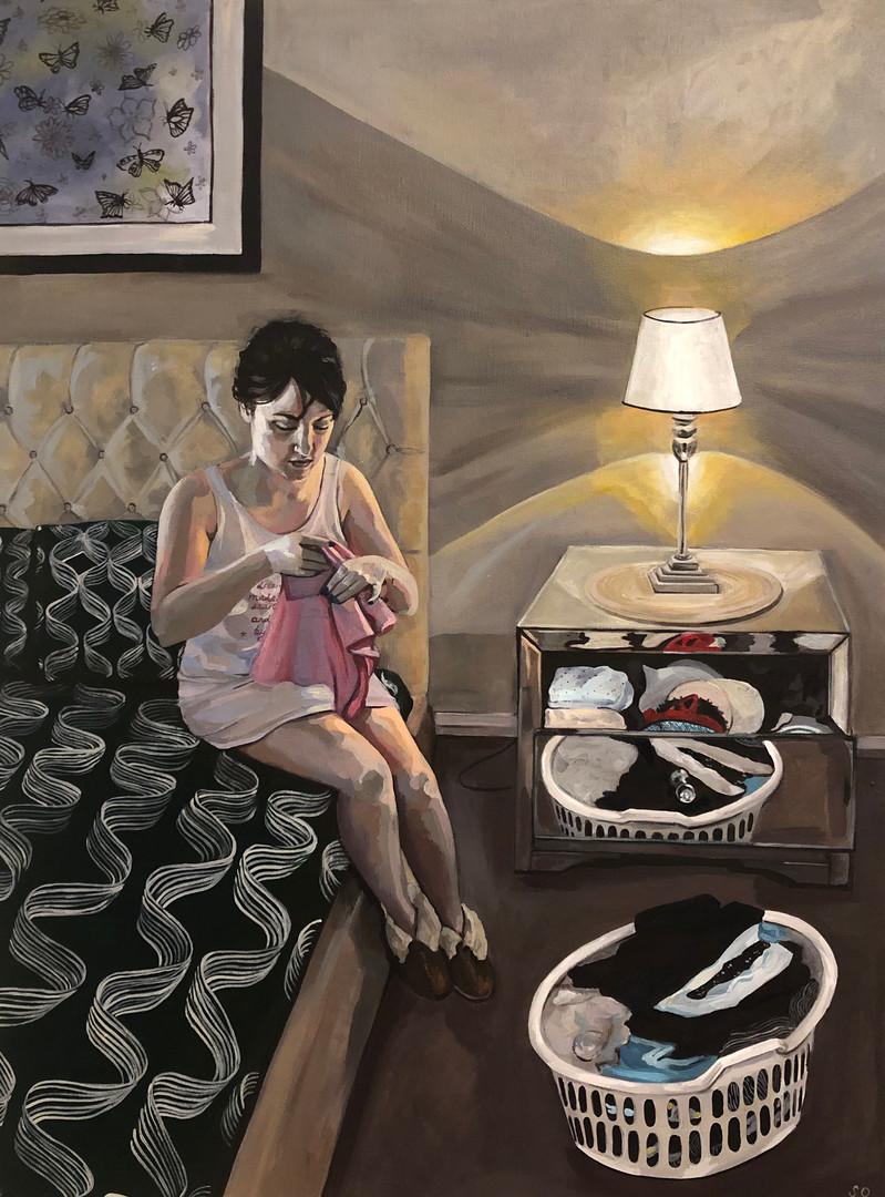 #Adulting, 2020, Acrylic on canvas, 61 x 46 cm.