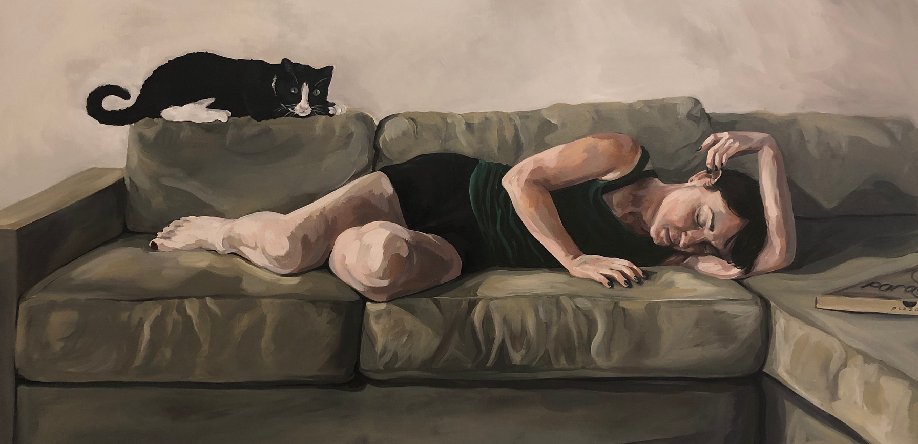 It was a long day, 2019, Acrylic on canvas, 46 x 91 cm. *