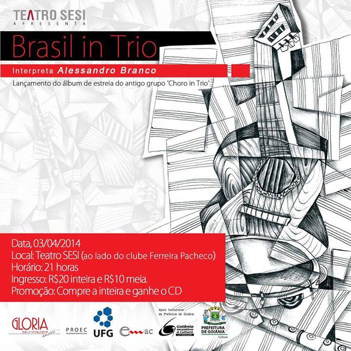 Lançamento do primeiro disco do nosso Brasil In Trio!!!!Maravilha completa!!!!Amanhã no Teatro Sesi_