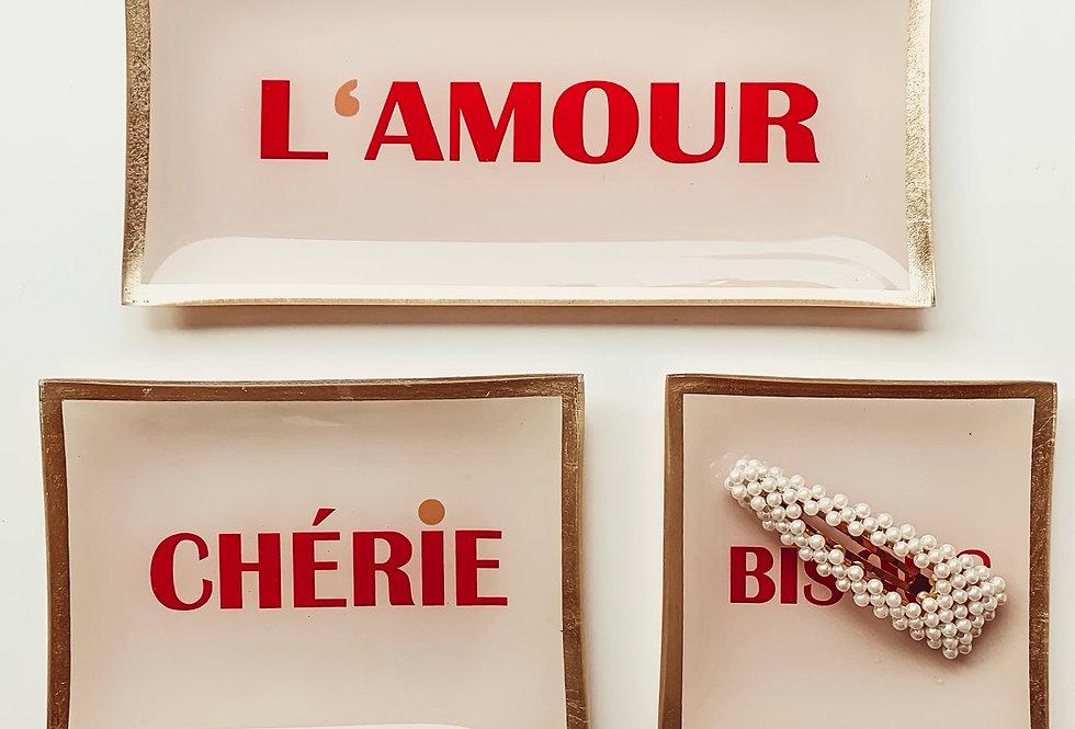 Glasteller L'Amour