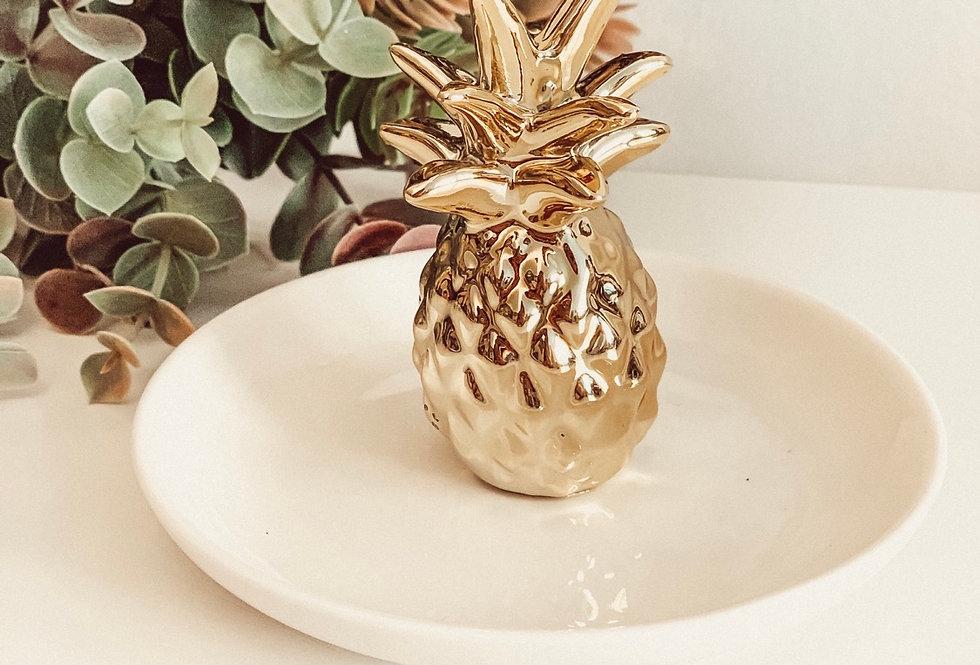 Schmuckteller Ananas