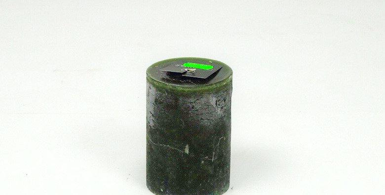 Kaars smal klein darkgreen