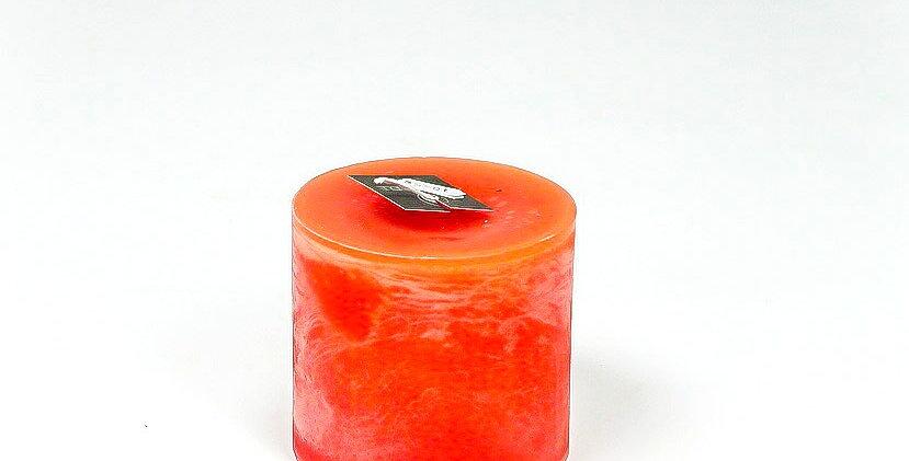 Kaars dik klein orange