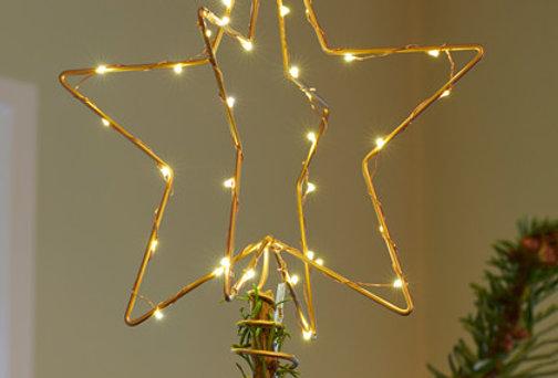 CHRISTINA TREE TOP STAR 15 CM GOUD