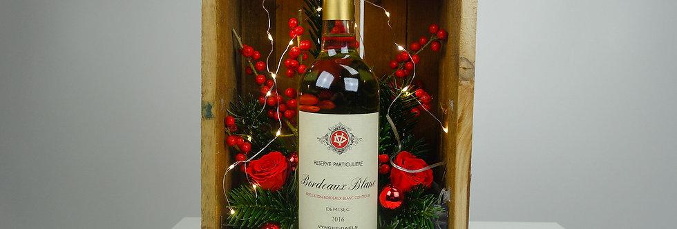 Wijnkistje met kerstdeco