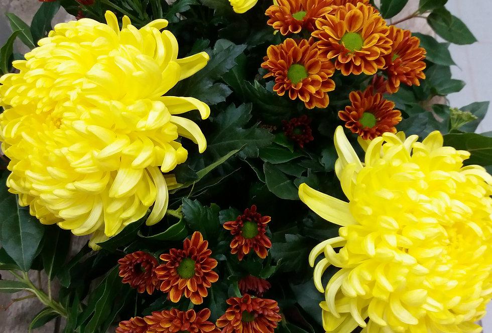 Chrysantengerbe geel