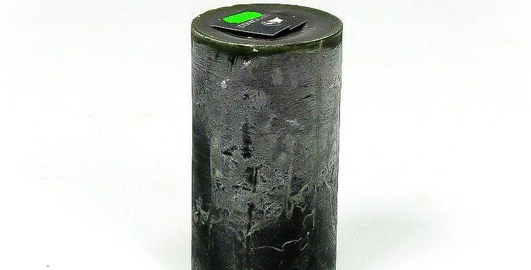 Kaars smal groot darkgreen