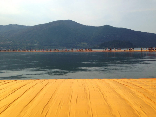 CON CHRISTO...SUI FLOATING PIERS
