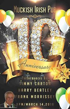 Muckish Irish Pub 10th Anniversary Poste