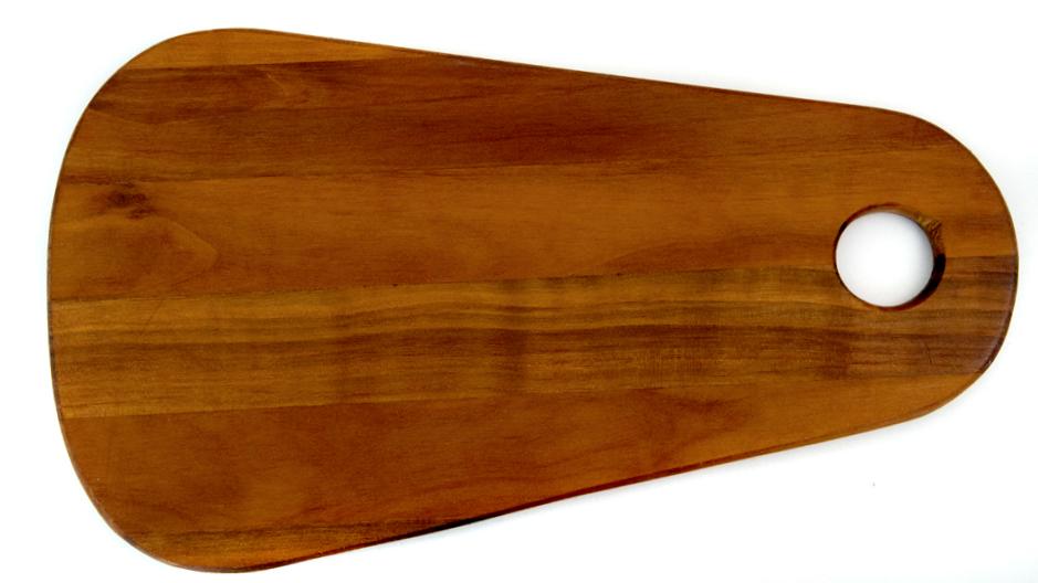 Long round cutting board