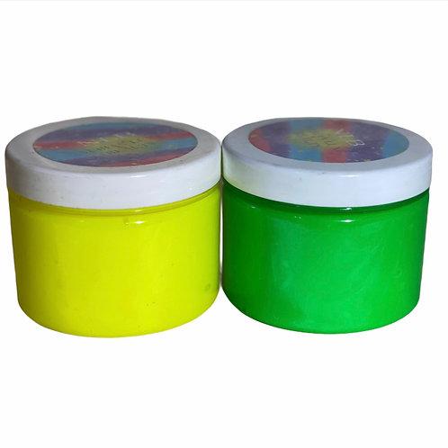 Neon Jars +Squeeze Tubes