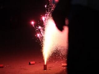 Risco de lesões com fogos de artifício
