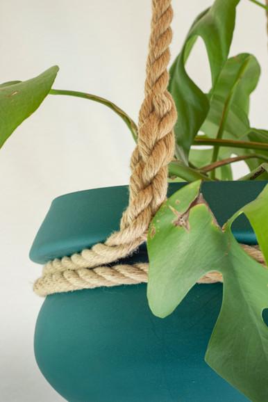 Keramische bloempot groen
