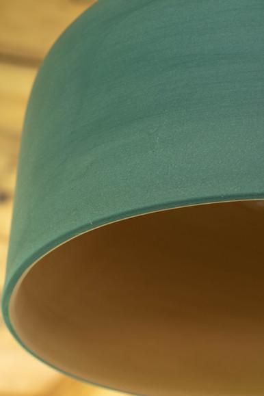 Keramische lamp groen en oker