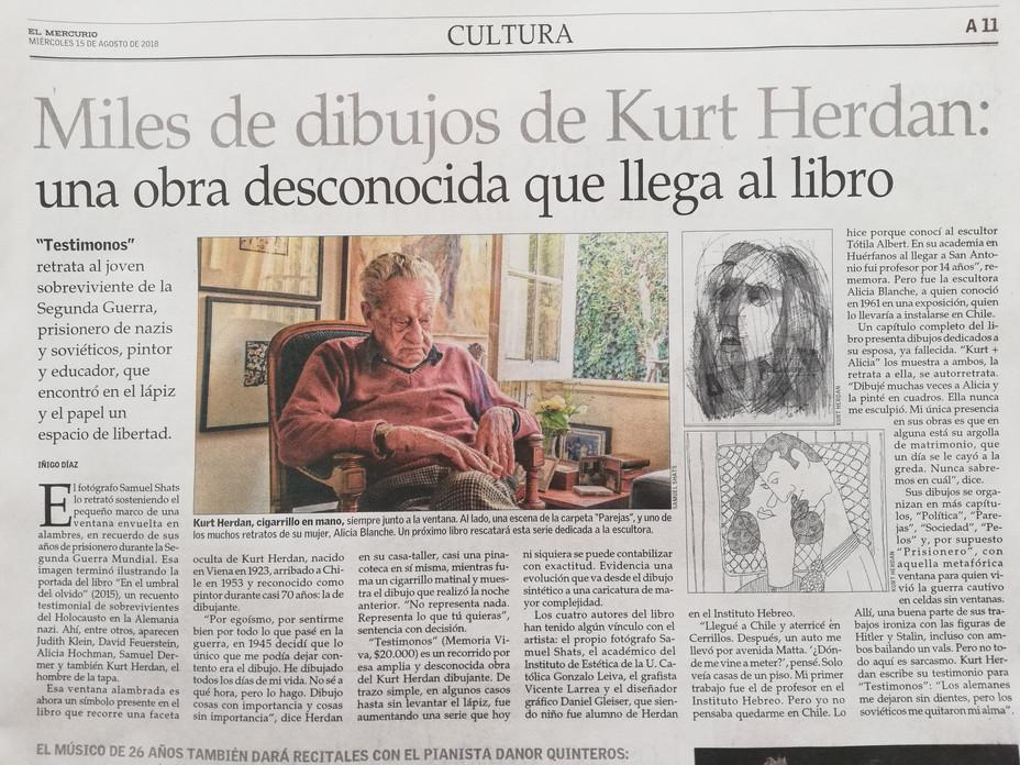 """""""Testimonios"""" dibujos de vida de Kurt Herdan."""