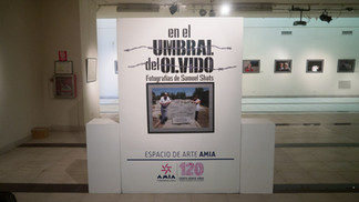 """En el umbral del olvido"" llega al espacio de arte AMIA."" // On the Threshold of Obli"