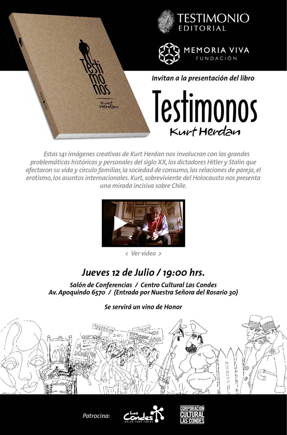 """Kurt Herdan, presentará su libro """"Testimonios"""""""