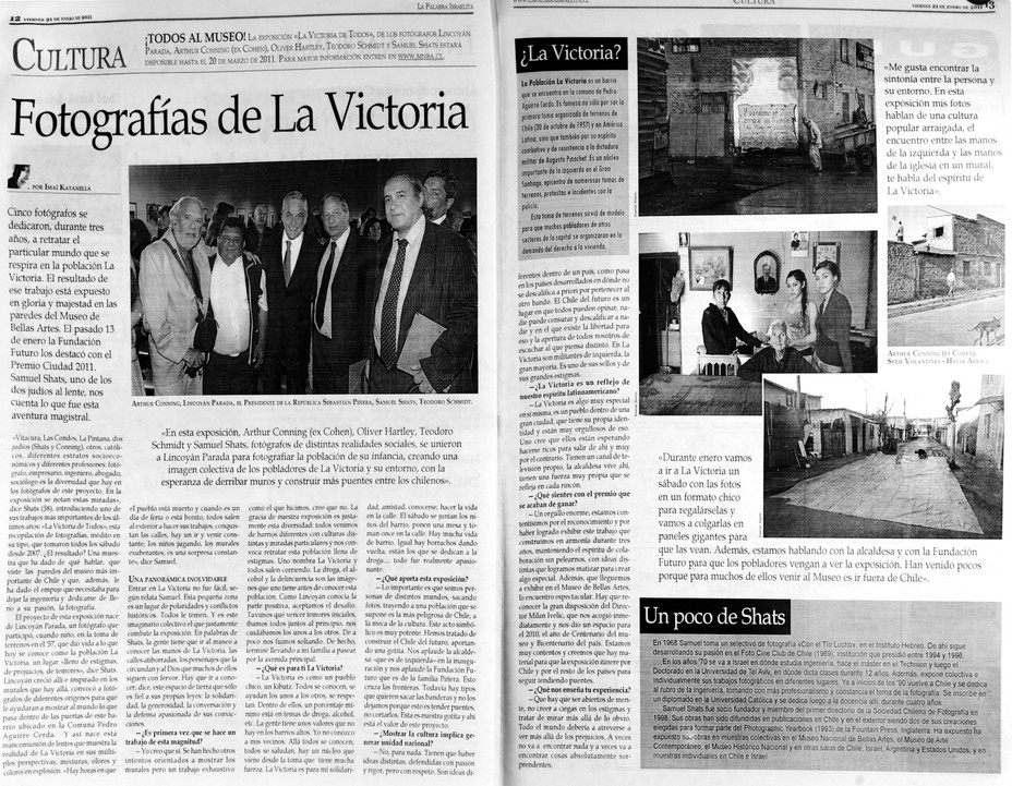 """""""La Victoria de Todos"""" es destacada con el Premio de la Ciudad 2011/ """"La Victoria de"""