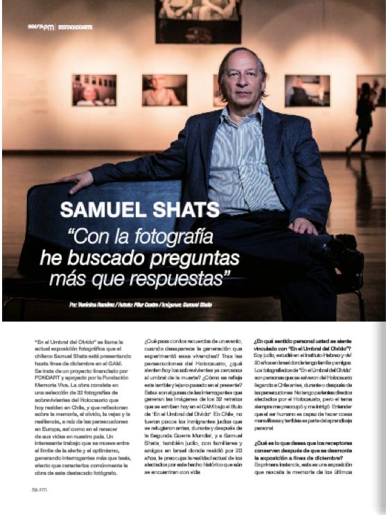 """Samuel Shats, sobre su serie """"En el umbral del olvido"""""""