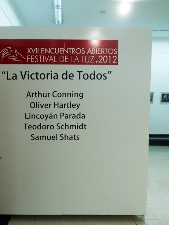 """""""La Victoria de Todos"""" en el XVII encuentros abiertos, Festival de la Luz 2012 Buenos Aire"""
