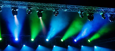 Lighting Truss with Moving Head Fixtures