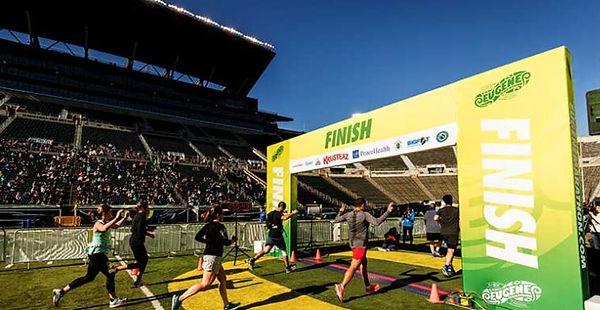 Marathon Start and Finsh Lines