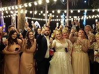 outdoor-wedding-cafe lighting-string lighting-backyard