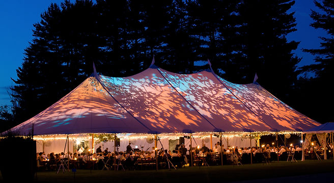 Tent with Gobo Projectors